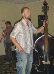 A fine bass player but obviously unable to deal with the simple things in life like wearing trousers.