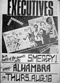 This was the poster for the gig at The Alhambra that ended in much destruction and was probably the last gig SATCB ever did there. For a fuller story click here.
