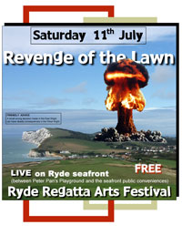 Revenge of the Lawn play the hallowed turf of Ryde Seafront.